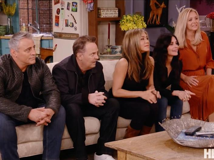 The 'Friends' cast gather for the big reunion episodeHBO Max