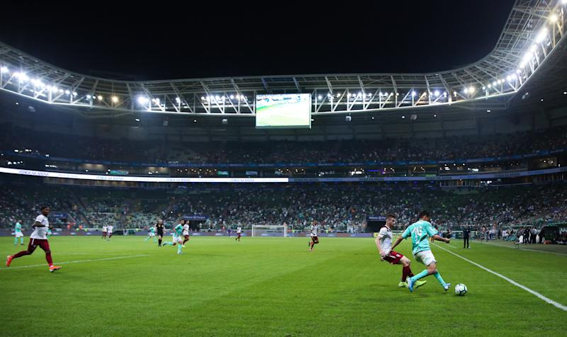 SAO PAULO, BRAZIL - SEPTEMBER 10: General view of the match between Palmeiras and Fluminense for the Brasileirao Series 2019 at Allianz Parque on September 10, 2019 in Sao Paulo, Brazil. (Photo by Alexandre Schneider/Getty Images)
