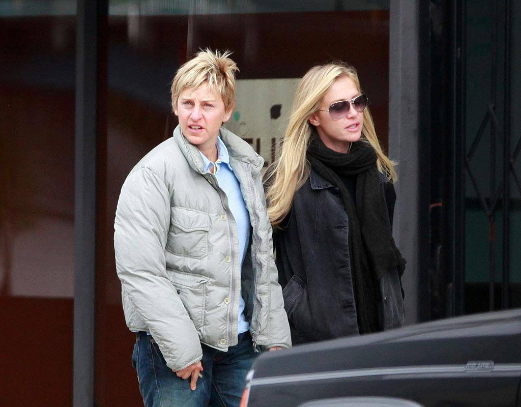 """Ellen DeGeneres and Portia de Rossi admitted to Ladies Home Journal that they bicker like any other married couple. One thing they fight over? Portia's habit of leaving half-empty beverages all over their home. """"I was going to thank [Ellen] in our vows, for picking up all the glasses,"""" Portia revealed. Both added they are happy and content being married. <a href=""""http://www.infdaily.com"""" target=""""new"""">INFDaily.com</a> - February 8, 2009"""