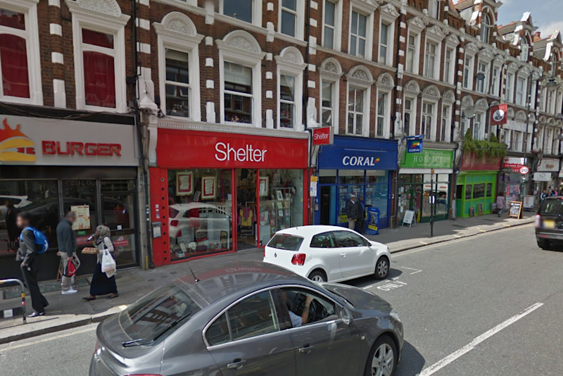 Shelter in Crouch End was one of two shops that the woman spent thousands of pounds in (Google)