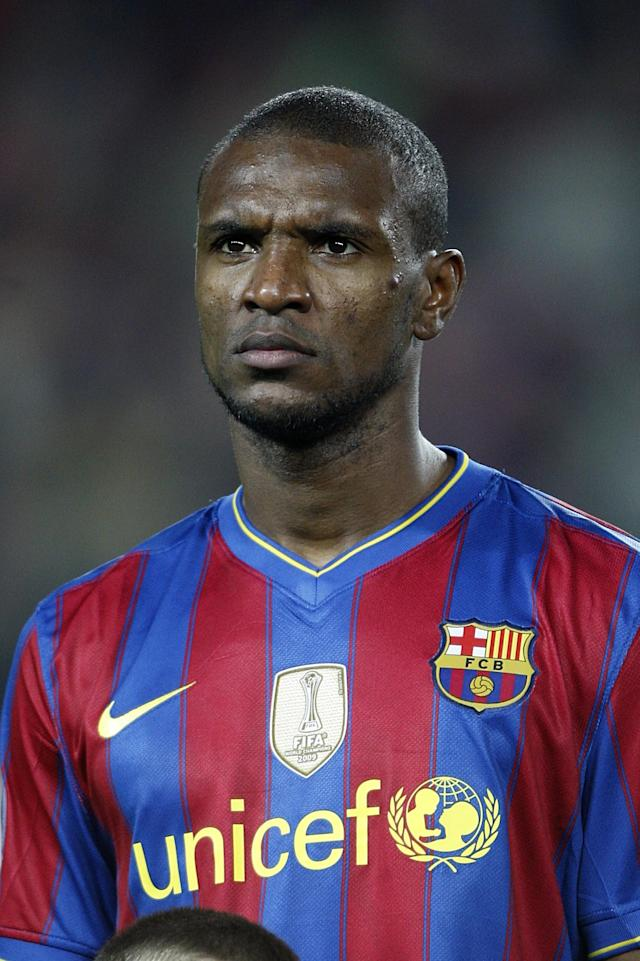File photo dated 06/04/2010 of Eric Abidal, Barcelona.