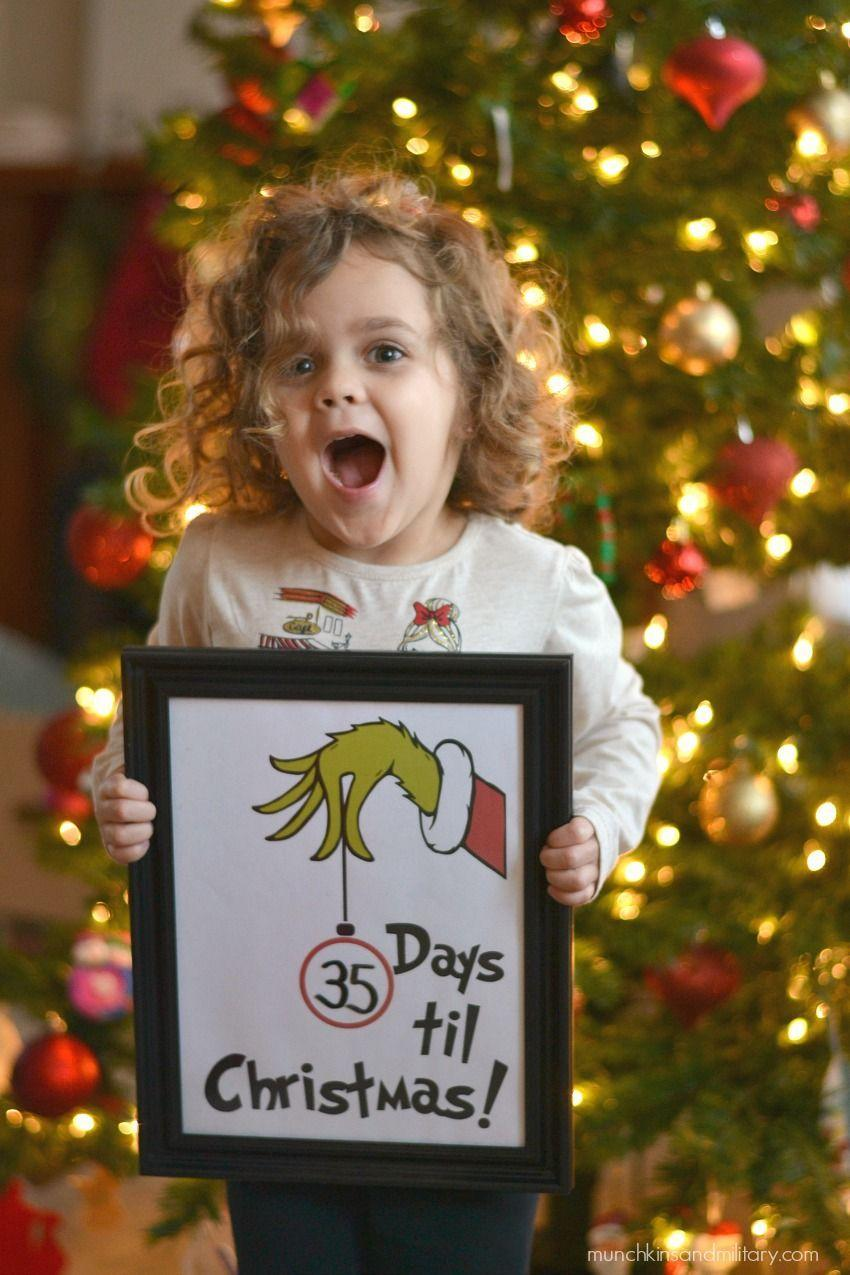 "<p>You won't be able to contain your excitement with this framed Christmas countdown. Just download the free printable illustration from Three Little Ferns, pop it in a frame, and use a dry-erase marker to change the day.</p><p><strong>Get the tutorial at <a href=""https://threelittleferns.com/2017/11/countdown-to-christmas-grinch-printable.html"" rel=""nofollow noopener"" target=""_blank"" data-ylk=""slk:Three Little Ferns"" class=""link rapid-noclick-resp"">Three Little Ferns</a>.</strong></p><p><strong><a class=""link rapid-noclick-resp"" href=""https://www.amazon.com/Icona-Bay-Picture-Inspirations-Collection/dp/B07P1XBXBK/ref=sr_1_15?dchild=1&keywords=8x10+photo+frame+black&qid=1603063345&sr=8-15&tag=syn-yahoo-20&ascsubtag=%5Bartid%7C10050.g.28982778%5Bsrc%7Cyahoo-us"" rel=""nofollow noopener"" target=""_blank"" data-ylk=""slk:SHOP BLACK FRAMES"">SHOP BLACK FRAMES</a><br></strong></p>"
