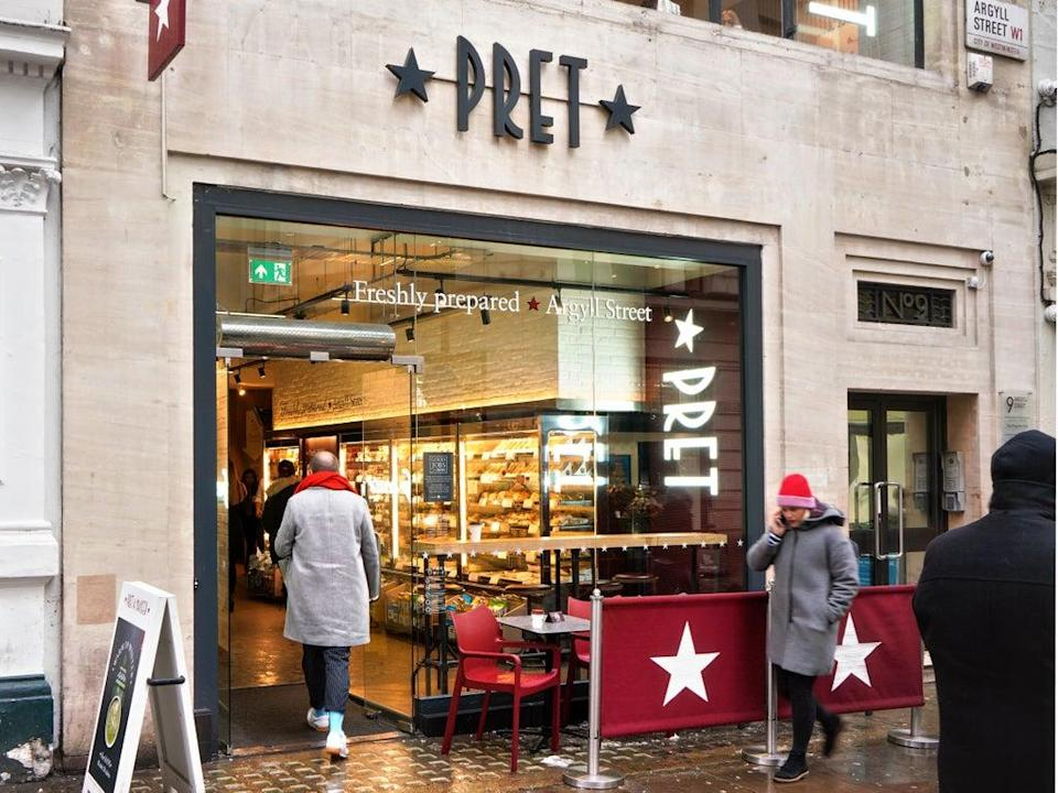 Pret a Manger has been hard hit during the Covid pandemic (Getty Images)