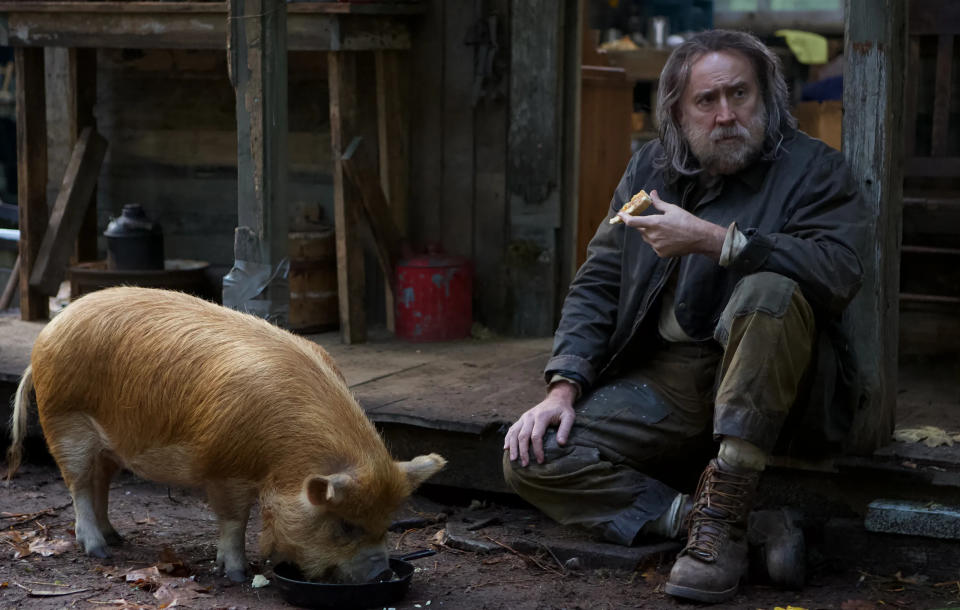 'Pig' sees Nicolas Cage investigating the kidnapping of his beloved truffle pig. (Neon/Altitude)