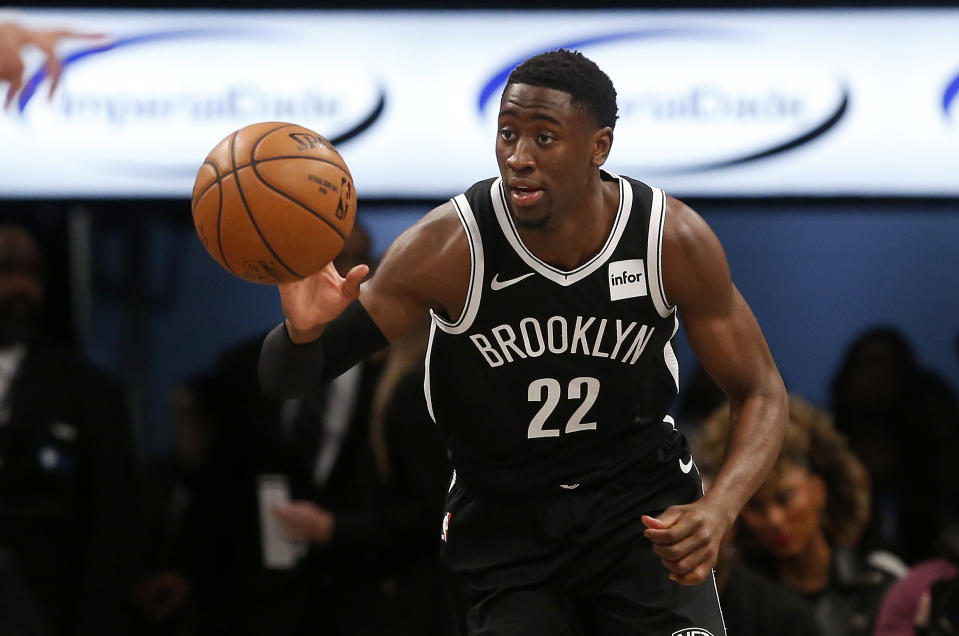 The Nets could be without Caris LeVert if his thumb is as injured as they fear. (Jim McIsaac/Getty Images)