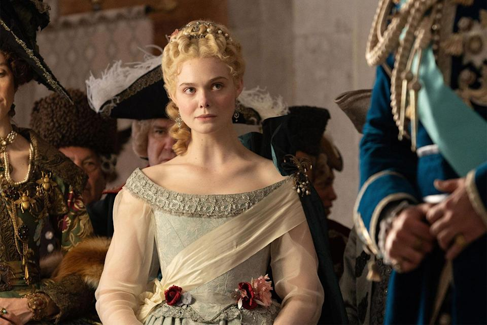 <p>Bow down, y'all! Fanning is nominated for her role as Russian empress Catherine the Great in Hulu's historical fiction series, <em>The Great</em>. She's nominated in the best television actress – musical or comedy category. </p>