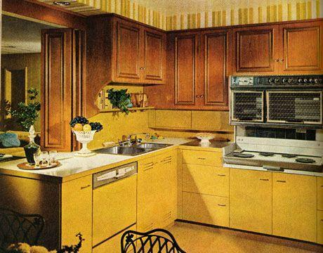 "<p>The emergence of earth tones in the mid-to-late '60s brings shades like ""harvest gold"" and ""avocado green"" into kitchens across the country. Though some may go even bolder with color, these hues remained popular even though the '80s. </p>"