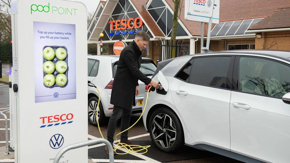 Electric charging at Tesco