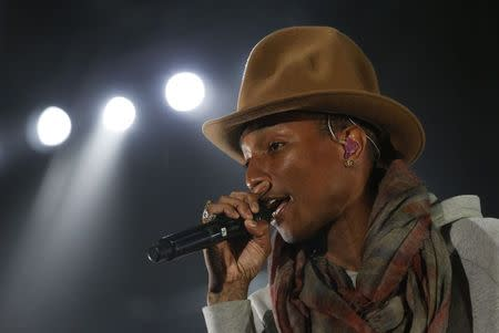 Pharrell Williams performs at the Coachella Valley Music and Arts Festival in Indio, California in this April 12, 2014 file photo. REUTERS/Mario Anzuoni/Files