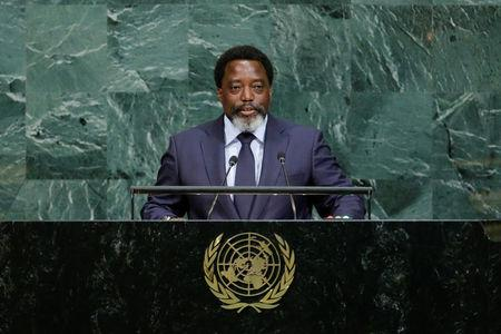 Joseph Kabila Kabange, President of the Democratic Republic of the Congo addresses the 72nd United Nations General Assembly at U.N. headquarters in New York