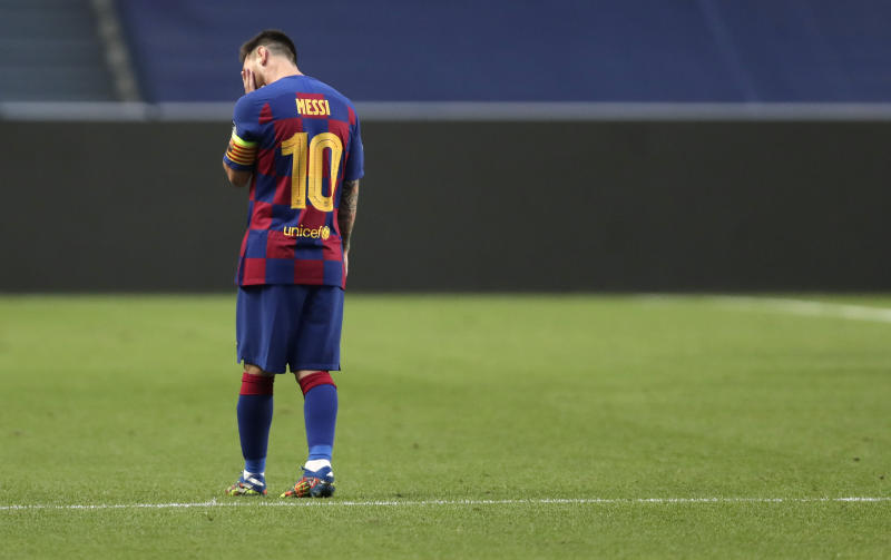 It's looking more and more like Lionel Messi has played his last match for Barcelona. (Manu Fernandez/Getty)