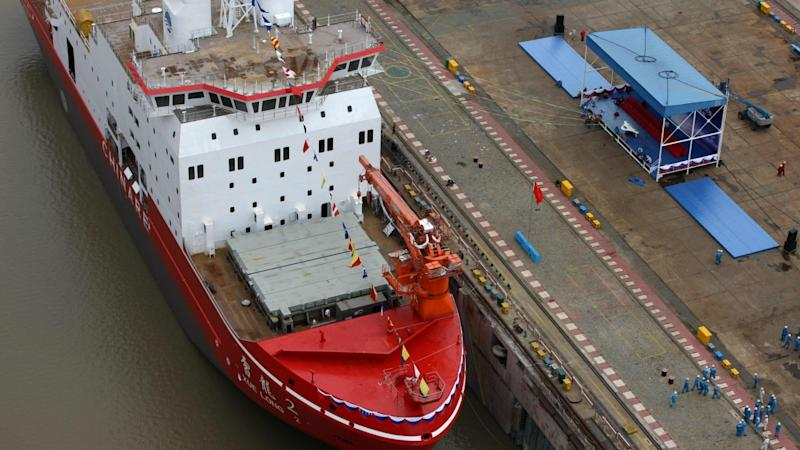 China breaks the Arctic ice with launch of new research vessel Snow Dragon II