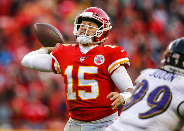 Patrick Mahomes is a front-runner for the league's MVP award, thanks to his incredible arm and imagination. (Getty Images)
