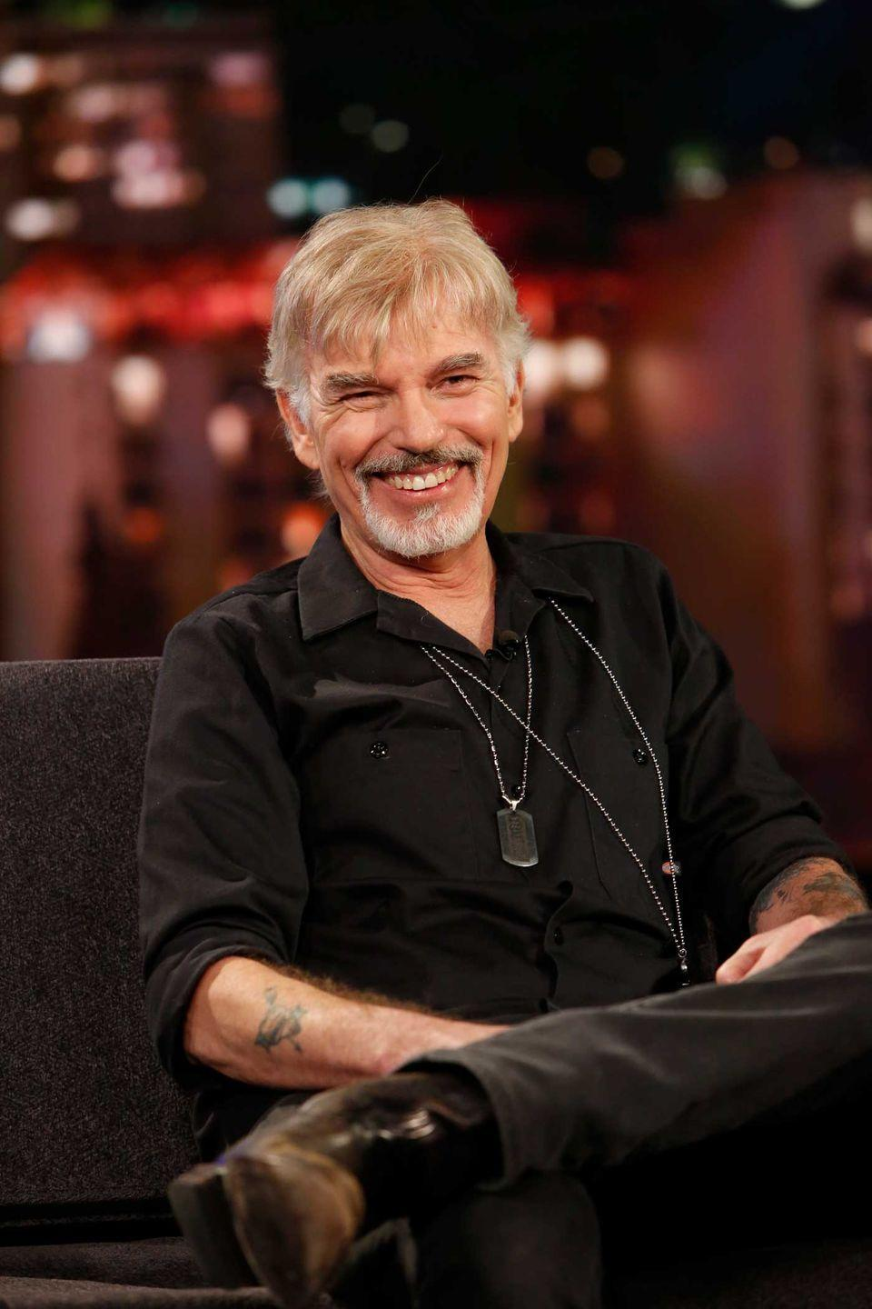 <p>Had no idea Billy Bob Thornton was in a band called The Boxmasters? Same. Between the band and on his own, he's released 12 albums. His first album, <em>Private Radio</em>, was recorded in his home studio, which was built and formerly owned by ex–Guns N' Roses guitarist Slash. He even has a song on the album titled <em>Angelina</em>, obviously about his wife at the time, Angelina Jolie. Yep.</p>