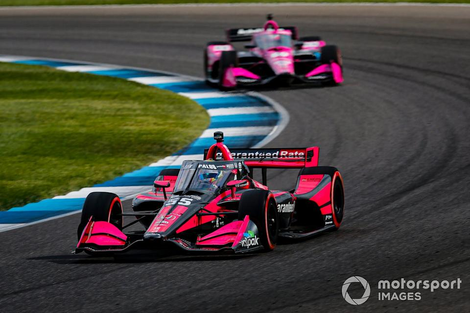 "Alex Palou, Dale Coyne Racing with Team Goh Honda, Jack Harvey, Meyer Shank Racing Honda<span class=""copyright"">Barry Cantrell / Motorsport Images</span>"