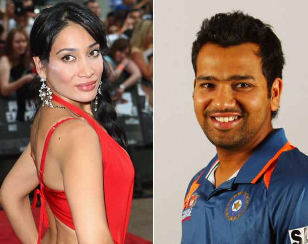 Sofia Hayat and Rohit Sharma