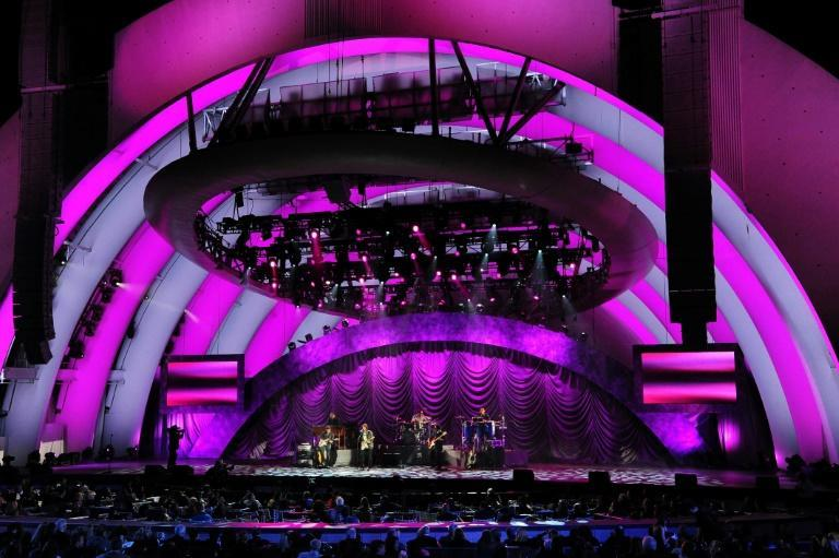 The Hollywood Bowl, known for its distinctive shell-shaped stage nestled in the Hollywood Hills, opened in 1922 (AFP Photo/Robyn BECK)