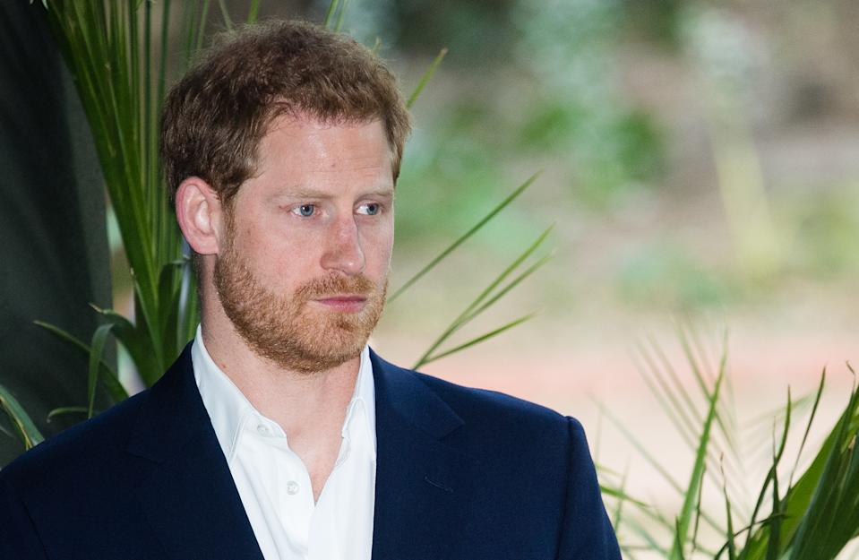 JJOHANNESBURG, SOUTH AFRICA - OCTOBER 02: Prince Harry, Duke of Sussex visits the British High Commissioner's residence to attend an afternoon reception to celebrate the UK and South Africa's important business and investment relationship, looking ahead to the Africa Investment Summit the UK will host in 2020. This is part of the Duke and Duchess of Sussex's royal tour to South Africa. on October 02, 2019 in Johannesburg, South Africa. (Photo by Samir Hussein/WireImage)