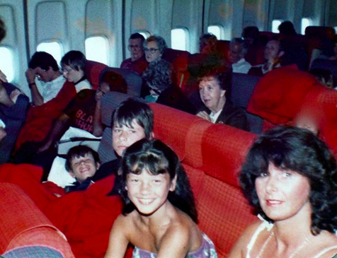 """<p>""""Coming to America!"""" the Welsh actress captioned this cute throwback. """"My very first time on a plane to the US."""" (Photo: <a href=""""https://www.instagram.com/p/BYMUZ_qAZH4/?taken-by=catherinezetajones"""" rel=""""nofollow noopener"""" target=""""_blank"""" data-ylk=""""slk:Catherine Zeta-Jones via Instagram"""" class=""""link rapid-noclick-resp"""">Catherine Zeta-Jones via Instagram</a>) </p>"""