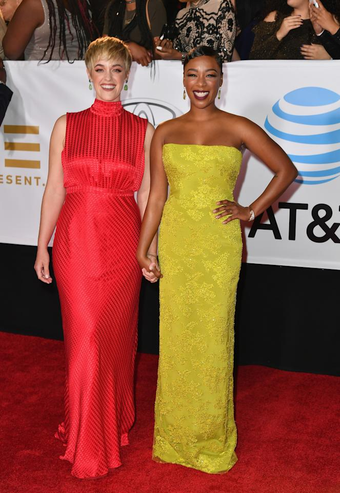 <p>Samira, known for her roles in 'The Handmaid's Tale' and 'Orange is the New Black', took her writer wife Lauren to the 49th NAACP Awards in January 2018. <em>[Photo: Getty]</em> </p>