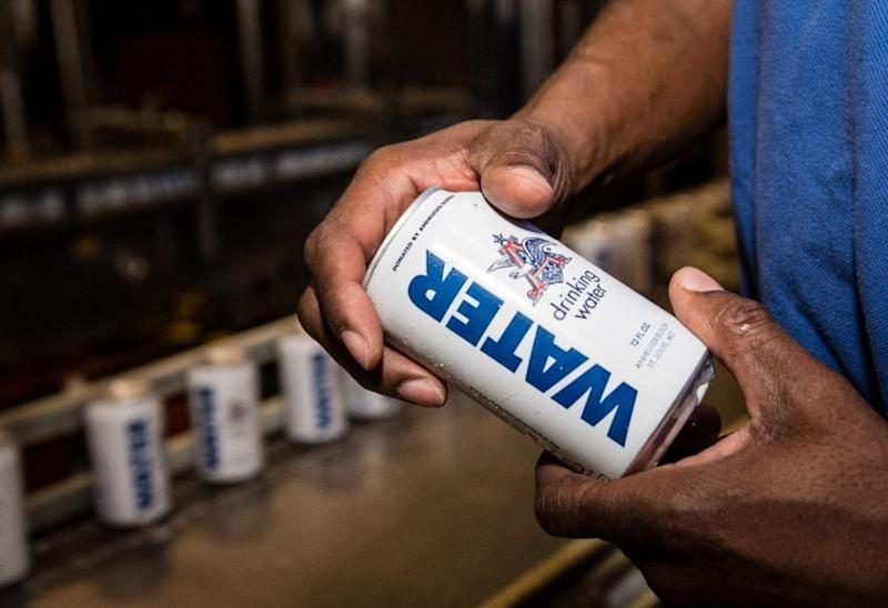 The Anheuser-Busch Brewery is sending more than 155,000 cans of emergency drinking water to those hard-hit by Hurricane Harvey. (Anheuser-Busch.com)