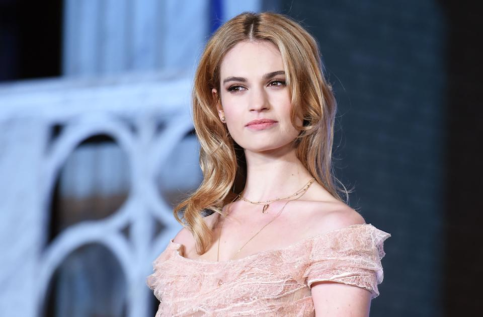 TOKYO, JAPAN - APRIL 08:  Actress Lily James attends the premiere of