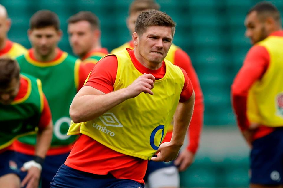 Owen Farrell used his five-week ban to reflect on himself after being sent off for a high tackle (Getty)