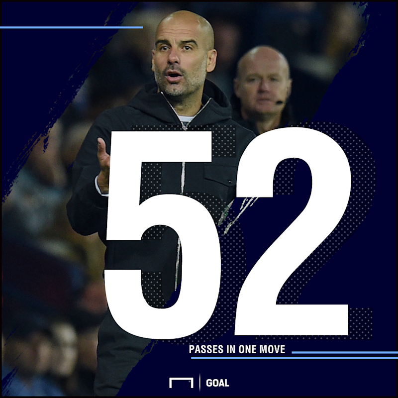 Pep Guardiola 52 passes stat