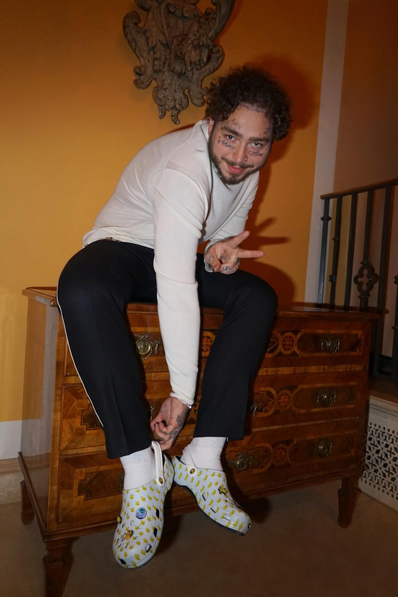 040444be1 Post Malone Partners with Crocs to Reimagine the Classic Clog