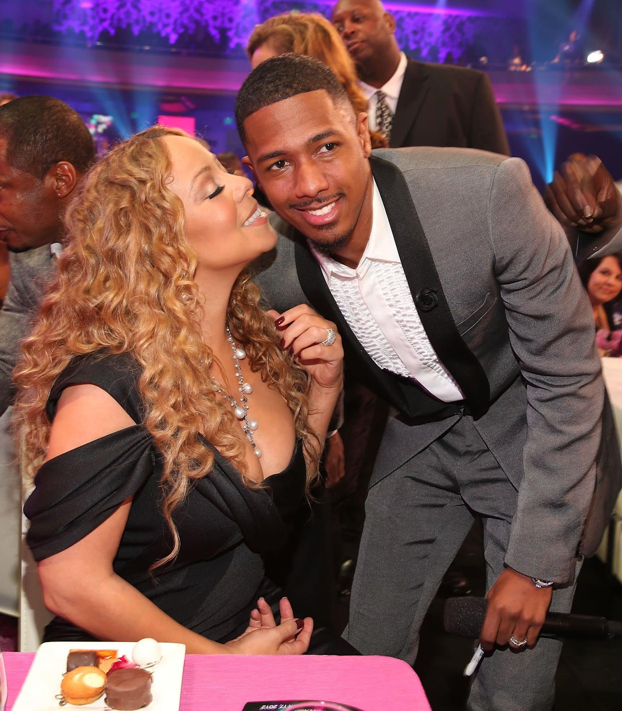 """Cannon once <a href=""""http://www.tmz.com/2012/12/11/nick-cannon-mariah-carey-sex-music-hero/"""" rel=""""nofollow noopener"""" target=""""_blank"""" data-ylk=""""slk:admitted that he made love to estranged wife Mariah Carey"""" class=""""link rapid-noclick-resp"""">admitted that he made love to estranged wife Mariah Carey</a> while listening to her music, adding that he'd masturbate to her tunes """"when she's not there."""" """"Sometimes there's special nights when you turn the music on and sometimes it's morning, you roll over and get it poppin'!"""""""