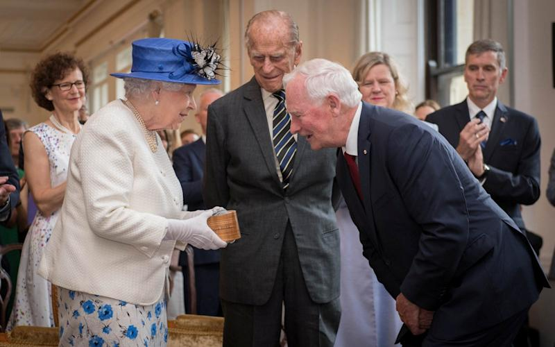 Queen Elizabeth is welcomed to Canada House by Canada Governor General David Johnston - Credit: REUTERS/Stefan Rousseau/Pool