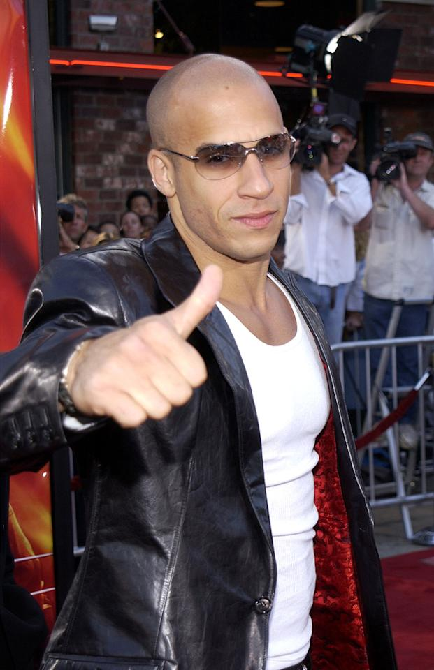 """<a href=""""http://movies.yahoo.com/movie/contributor/1800020716"""">Vin Diesel</a> at the Westwood premiere of <a href=""""http://movies.yahoo.com/movie/1807816302/info"""">XXX</a> - 08/05/2002"""