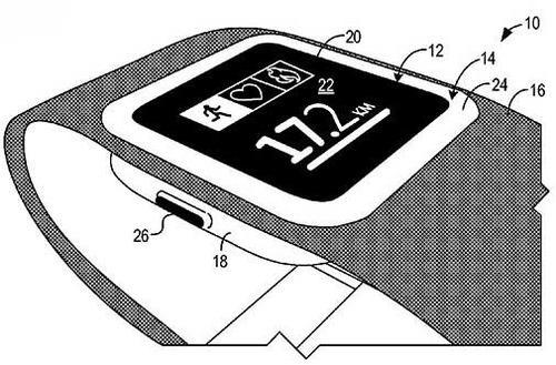 Diagram from Microsoft's smartwatch patent filing