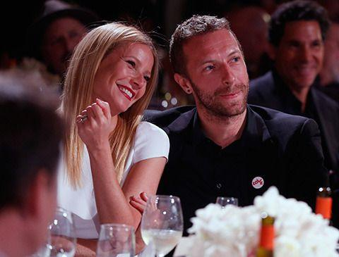 Gwyneth Paltrow and Chris Martin 3rd Annual Sean Penn & Friends HELP HAITI HOME Gala in January, 2014. Credit: AP