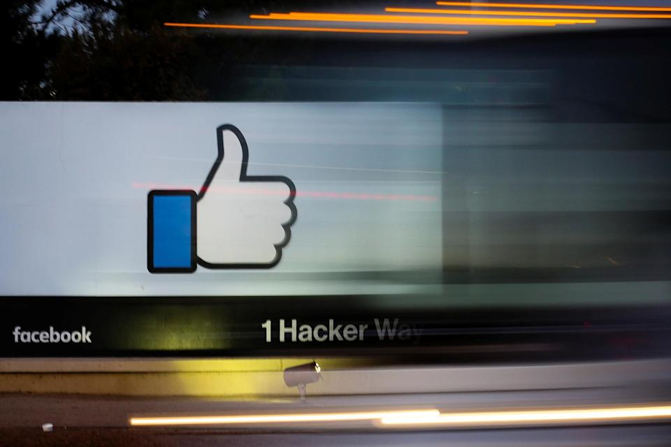 The entrance sign to Facebook headquarters is seen in Menlo Park, California, on Wednesday, October 10, 2018. REUTERS/Elijah Nouvelage - RC1443F580F0