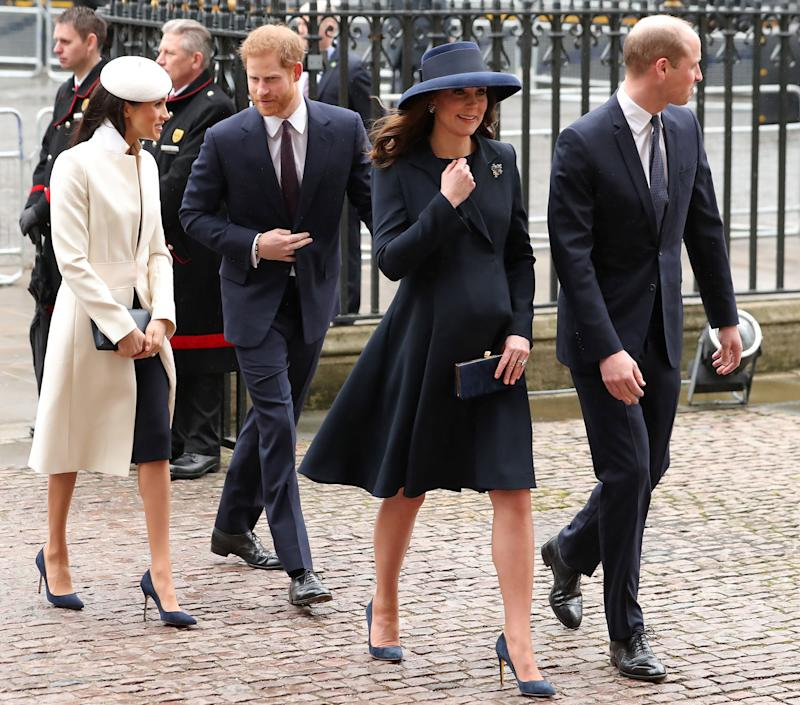 The Fab Four on the move this Monday. (DANIEL LEAL-OLIVAS via Getty Images)