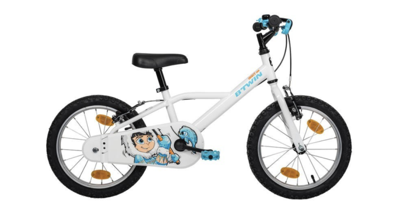 Btwin 100 16-inch bike 4-6 years – Inuit, S$140. PHOTO: Decathlon