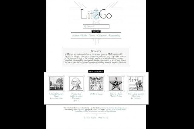 Lit2Go Audiobooks Screenshot