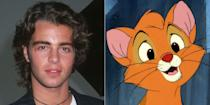 """<p>If you grew up on <em>Oliver & Company,</em> you probably know the singing dog Dodger was voiced by Billy Joel, who also sings the standout track """"<a href=""""https://www.youtube.com/watch?v=Jb7kJ-j_dKA"""" rel=""""nofollow noopener"""" target=""""_blank"""" data-ylk=""""slk:Why Should I Worry?"""" class=""""link rapid-noclick-resp"""">Why Should I Worry?</a>"""" But the homeless kitten at the story's center is also a famous voice: then child star Joey Lawrence, who went on to act in<em> Blossom</em> and <em>Melissa & Joey</em>.</p>"""