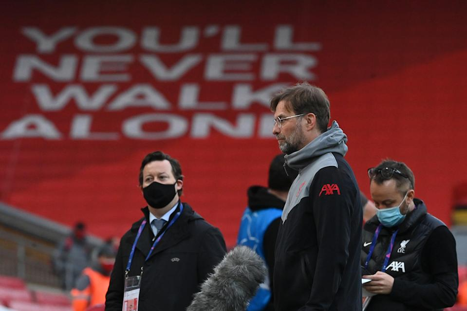 <p>Klopp: 'We had massive chances in the game'</p> (Getty Images)