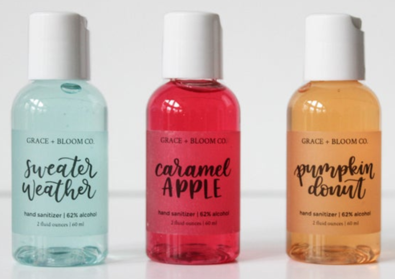 Grace + Bloom Co. Fall Hand Sanitizers