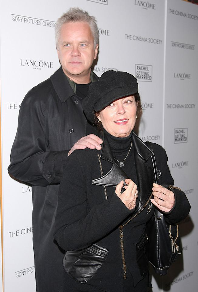 "<a href=""http://movies.yahoo.com/movie/contributor/1800018667"">Tim Robbins</a> and <a href=""http://movies.yahoo.com/movie/contributor/1800019379"">Susan Sarandon</a> at the Cinema Society New York City premiere of <a href=""http://movies.yahoo.com/movie/1809961213/info"">Rachel Getting Married</a> - 09/25/2008"