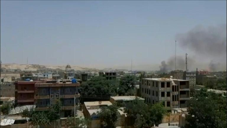 Smoke above Badghis capital as Taliban clashes with Afghan forces