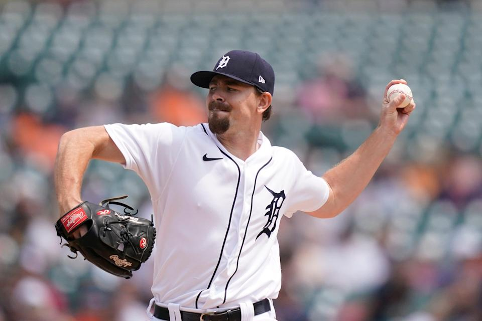 Tigers pitcher Tyler Alexander throws during the second inning on Sunday, Aug. 1, 2021, at Comerica Park.
