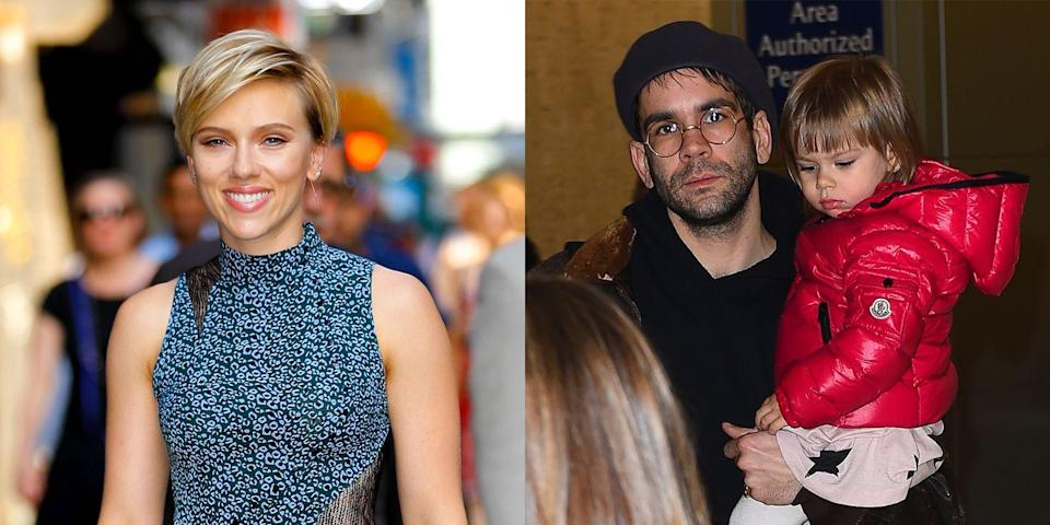"""<p>The actress gave birth to her and Romain Dauriac's daughter, Rose Dorothy, in 2014. However, Scarlett and Romain are no longer together—their divorce was just finalized in September. """"We remain close friends and co-parents with a shared commitment to raising our daughter in a loving and compassionate environment,"""" the couple said in <a href=""""http://people.com/movies/scarlett-johansson-and-romain-dauriac-finalize-their-divorce-and-settle-custody-fight/"""" rel=""""nofollow noopener"""" target=""""_blank"""" data-ylk=""""slk:a joint statement"""" class=""""link rapid-noclick-resp"""">a joint statement</a>.<br></p>"""