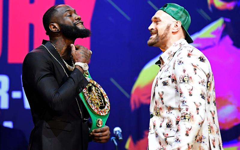 Deontay Wilder has poured scorn on Tyson Fury's decision to split with trainer Ben Davison - Getty Images North America