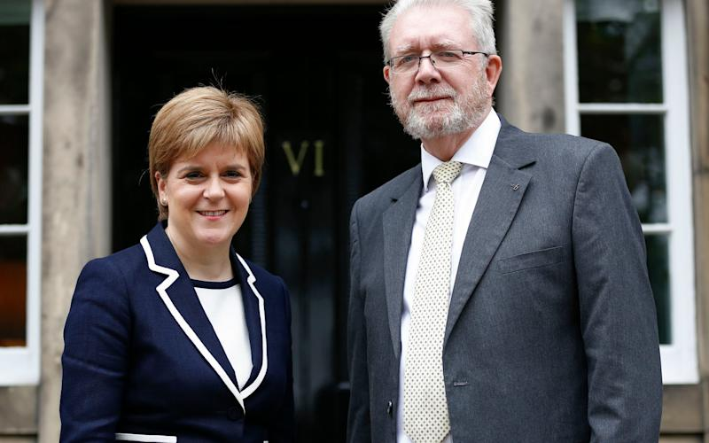 Mike Russell, Ms Sturgeon's Brexit Minister, angered the Spanish government - Credit: PA