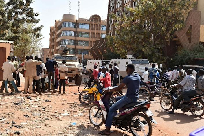 A jihadist attack on a hotel in Ouagadougou in January 2016 killed 29 people including foreigners (AFP Photo/ISSOUF SANOGO)