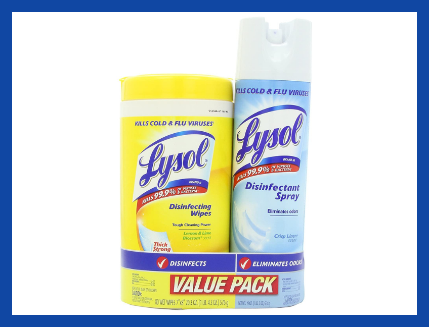 Lysol Base Household Cleaning Wipes, Crisp Linen (combo-pack). (Photo: Amazon)