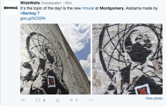 Is this a banksy or not online debate over who painted for Banksy mural painted over